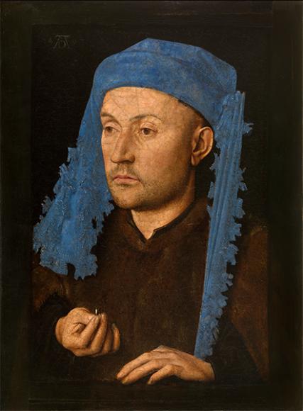 Джон ван Эйк, портрет мужчины с голубым шапероном, ок. 1428–1430