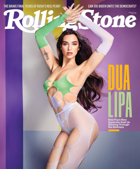 Дуа Липа на обложке Rolling Stone авторства Дэвида Лашапеля, февраль 2021