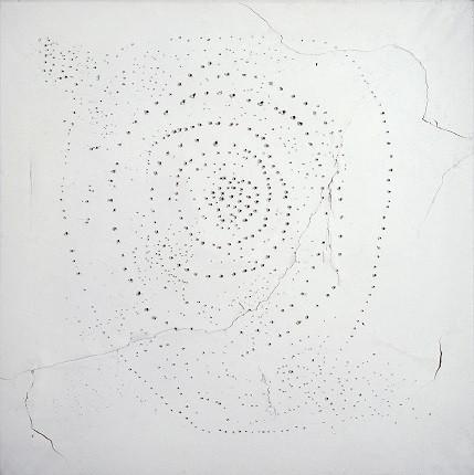 Лучо Фонтана, «Пространственный концепт», 1949. Национальная галерея модернистского и современного искусства, Рим