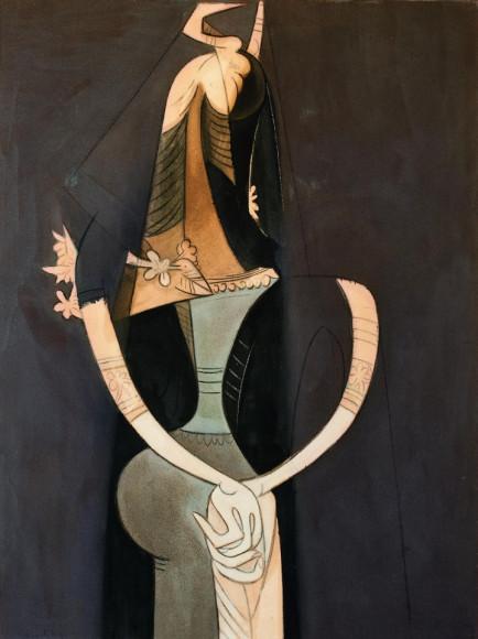 Вифредо Лам. «Crossed hands»,1951. Из частной коллекции