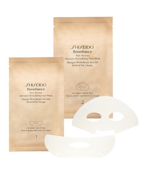 Тканевая маска на основе чистого ретинола Benefiance, Shiseido помогает бороться с морщинами в долгосрочной перспективе. А экстракт водного растения хлореллы наполняет кожу энергией уже через 15 минут.