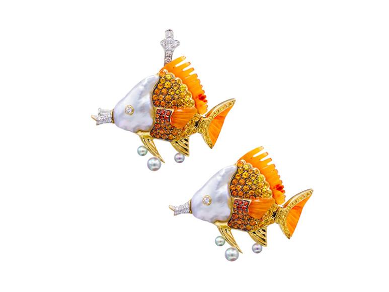 Брошь Butterlfy Fish,Alessio Boschi