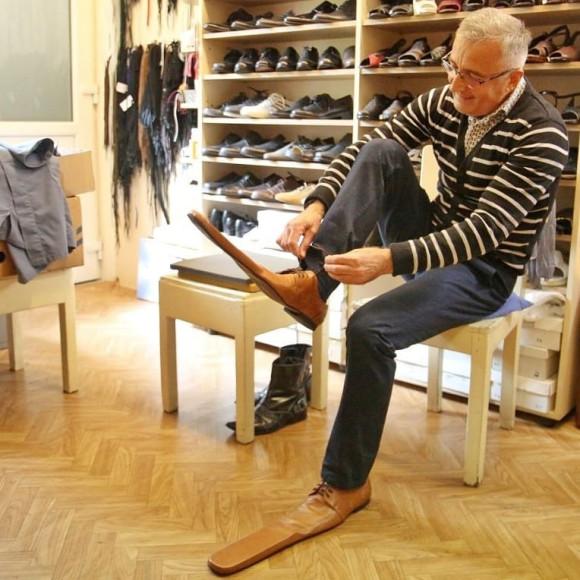 Обувь с удлиненными носами от румынского обувщика Григоре Лупа
