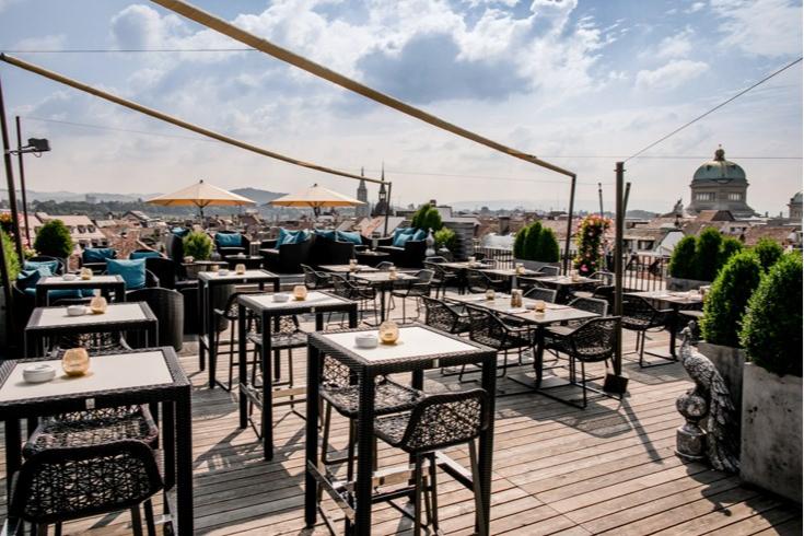 Панорамный ресторан на террасе
