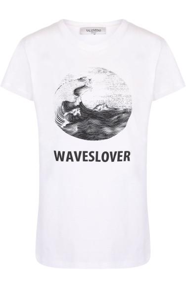 VALENTINO Хлопковая футболка