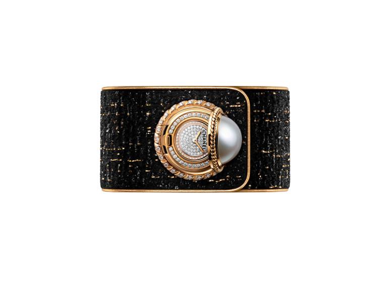Часы-манжета Mademoiselle privé Bouton Perle,Chanel