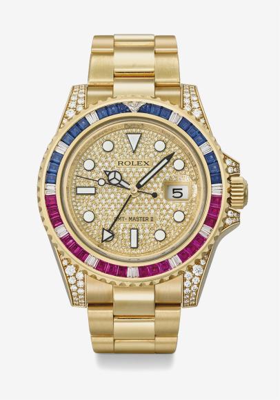 Часы GMT-Master II, Rolex, ок. 2010. Эстимейт 80–120 тысяч швейцарских франков, проданы за 100 тысяч швейцарских франков