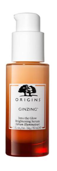 Увлажняющая сыворотка для ровного тона и сияния кожи лица Ginzing Into the Glow Brightening Serum, Origins