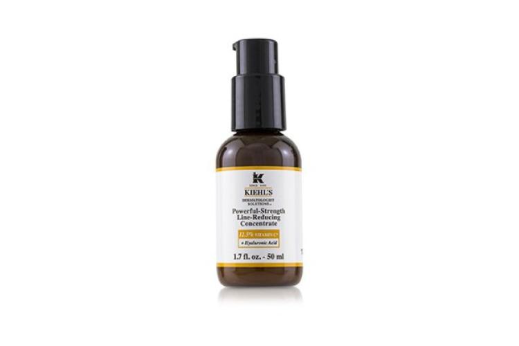 Интенсивный концентрат против морщин Kiehl's содержит 10,5% чистого витамина С и 2% витамина Cg, а также гиалуроновую кислоту. В результате использования кожа разглаживается, улучшается ее текстура, сокращаются морщины и усиливается сияние