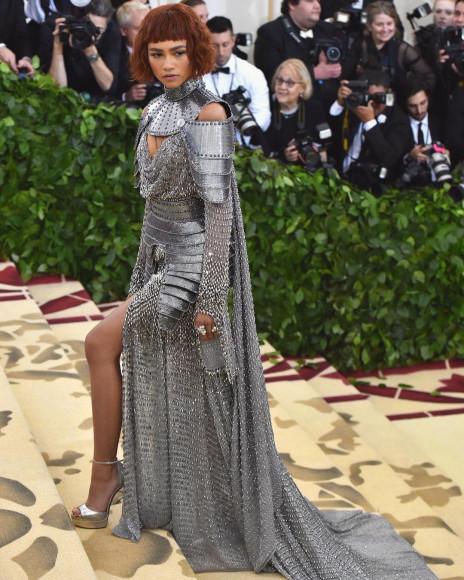 В платье Versace на Met Gala, 2018