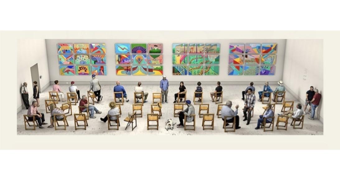 Дэвид Хокни, «Картинки с выставки»,2019–20