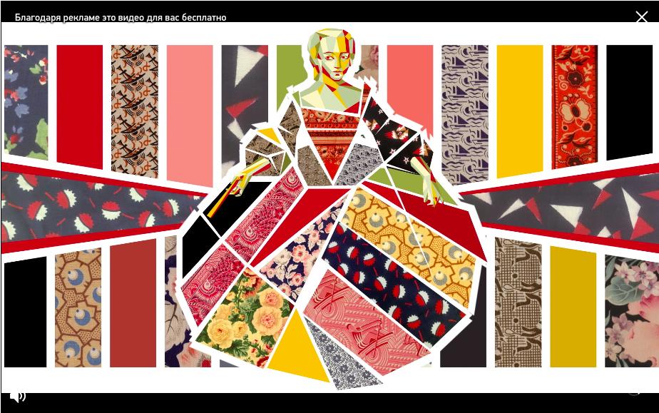 Скриншот трансляции Mercedes-Benz Fashion Week Russia на платформе интернет-магазина Aizel
