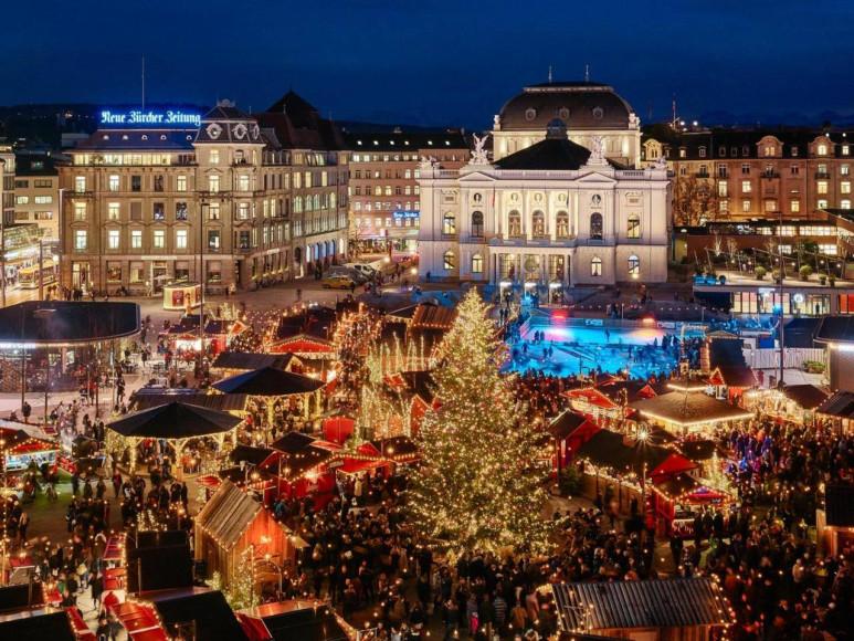 Городская рождественская ярмарка Wienachtsdorf