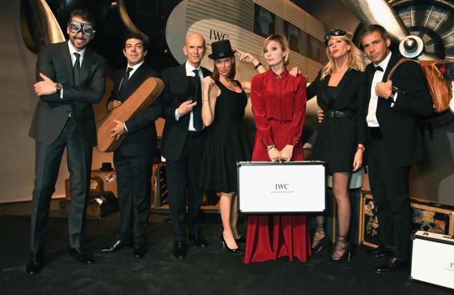Пьерфранческо Фавино (второй слева), Анна Ферзетти (третья справа), Алексия Маркуззи (вторая справа) и гости