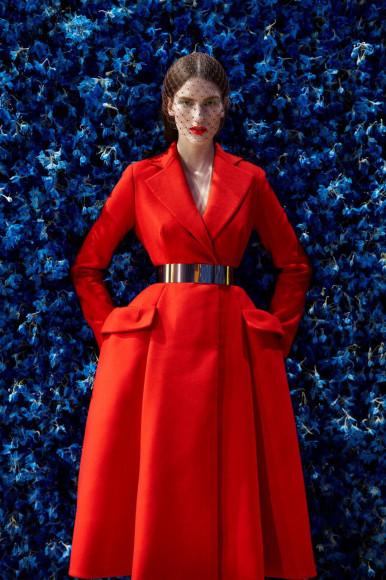 Платье Christian Dior авторства Рафа Симонса. Осень/Зима 2012, Париж