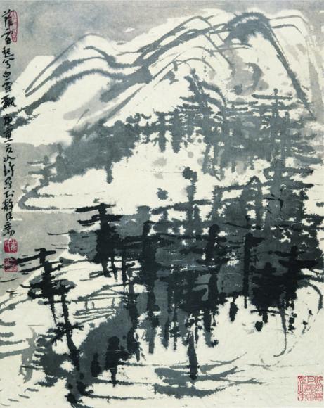 Цуй Жучжо. «Над горными водами падает снег», 2010