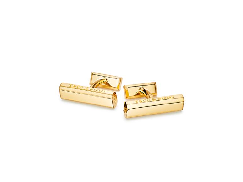 Запонки Tiffany 1837 Makers из золота, Tiffany & Co., 311 000 руб. (магазины Tiffany & Co.)
