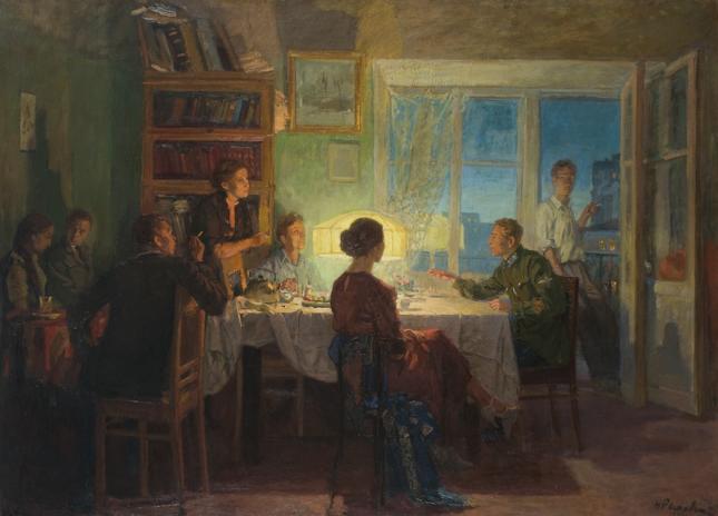Николай Ромадин. «Вечеринка», 1939