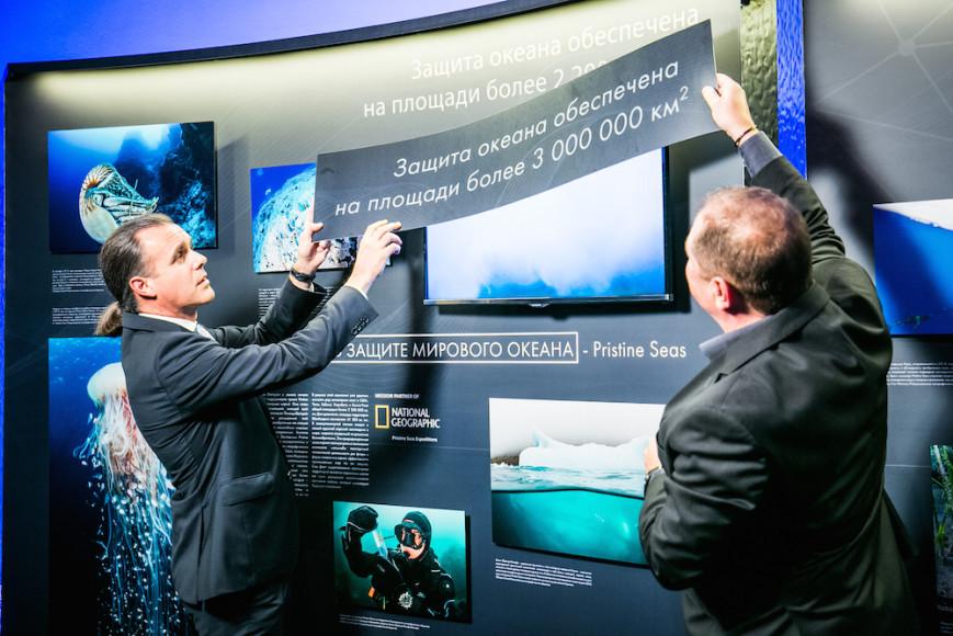 Вице-президент Blancpain Алан Делаймураз и исследователь National Geographic Энрик Сала