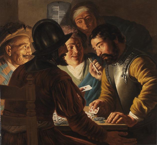 Ян Ливенс. «Игроки в карты»