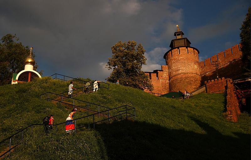Вид на Нижегородский кремль