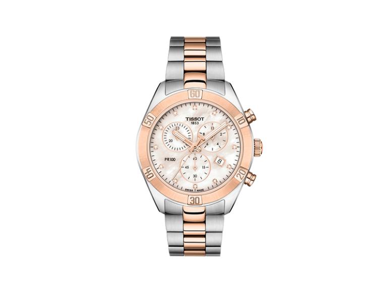 Часы Tissot PR 100 Sport Chic Chronograph, Tissot, 40 890 руб. (магазины Tissot)