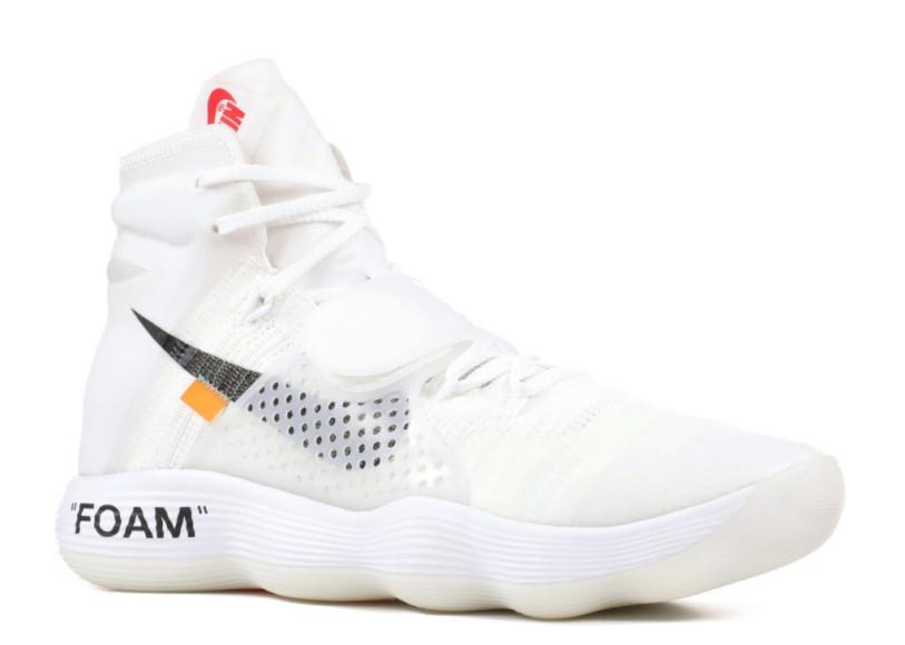 Off-White X Nike React Hyperdunk, 44 800 руб.