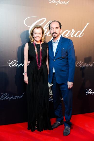 Каролина Шойфеле, сопрезидент и креативный директор Chopard, Алексис Веллер, режиссер фильма «Легенда Золотой пальмовой ветви»