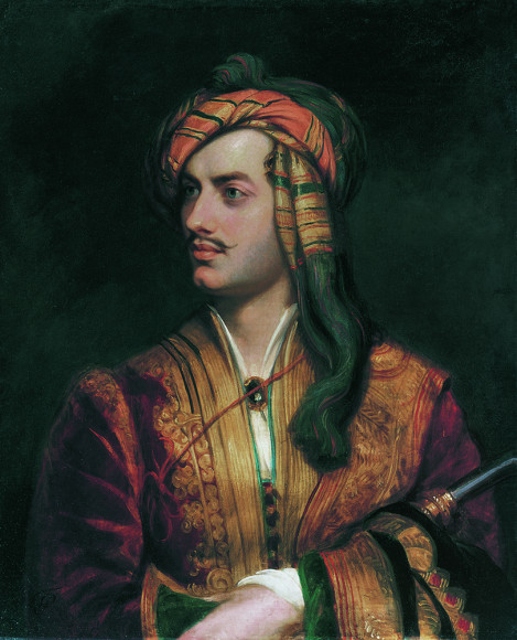 Томас Филлипс (копия). «Джордж Гордон Байрон, Шестой барон Байрон». Около 1835 г. (с оригинала 1813 г.)