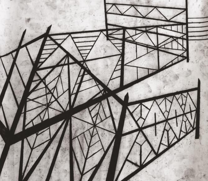 Елена Власова, «Решетка #9» из серии «Решетки. Игра с промежутками», 2020