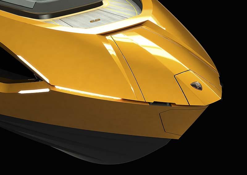 Дизайн яхты повторяет черты спорткаров Lamborghini