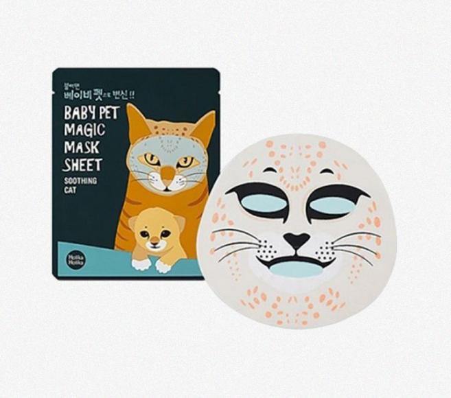 Увлажняющая и успокаивающая маска «Baby Pet Magic Mask Sheet», Holika Holika