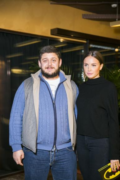 Илья Лихтенфельд, рестораратор со спутницей Мариной Приемовой