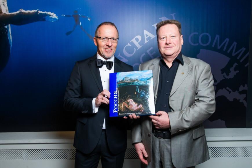 Фотограф Михаил Семенов и Patrick Zimmermann, Regional Sales Manager at Blancpain