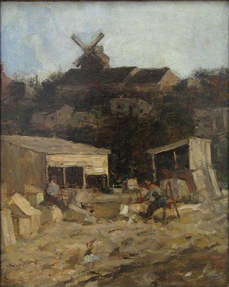 МаттейсМарис. «Каменоломня близ Монмартра», 1871-1873