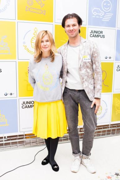 Ирина Ратковская (Lyra Agency) и Дмитрий Логинов (дизайнер)