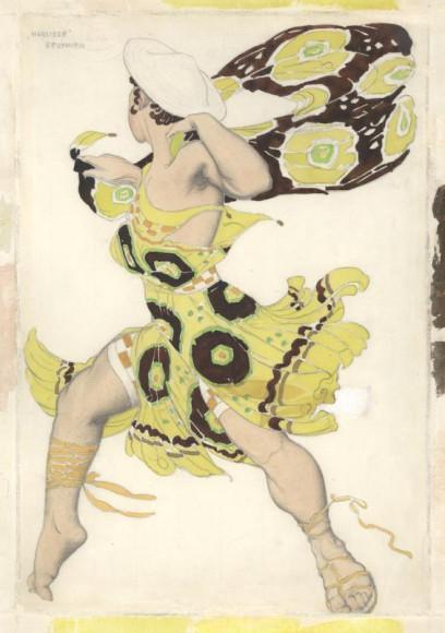Лев Бакст. Эскиз костюма Беотийца к балету «Нарцисс»