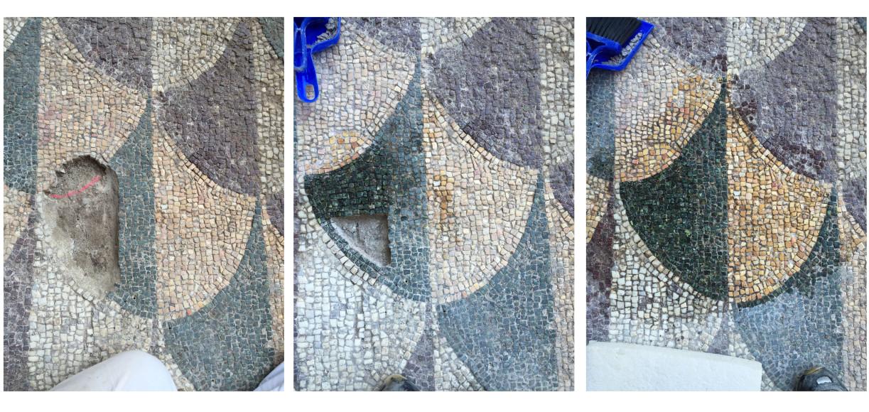 Этапы реставрации мозаики