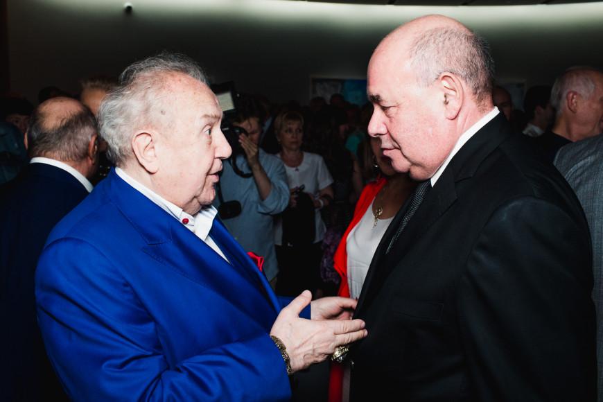 Архитектор Зураб Церетели и представитель президента России по культурному сотрудничеству Михаил Швыдкой
