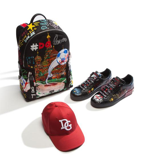 Рюкзак, кеды и бейсболка Dolce & Gabbana