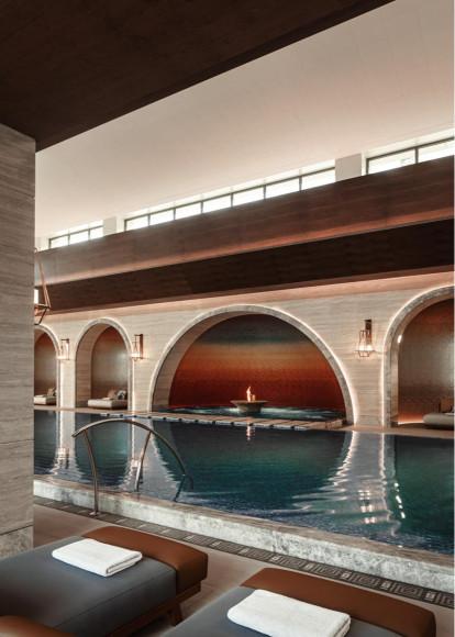 Крытый бассейн в wellness-пространстве Chenot Espace