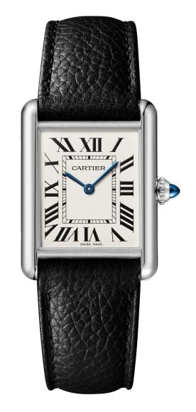 Часы Tank Must на кожаном ремешке, Cartier