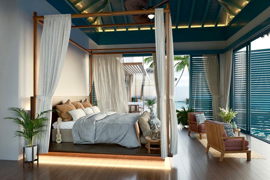 Вилла на берегу, спальня