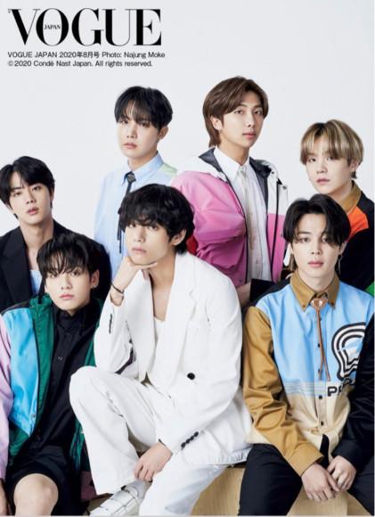 Группа BTS в Prada на обложке японского Vogue, лето 2020