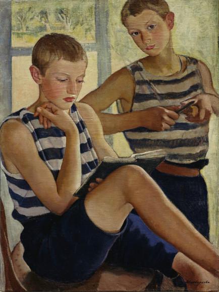 Зинаида Серебрякова. «Мальчики в матросских тельняшках», 1919