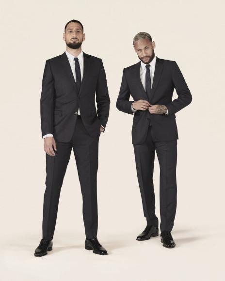 Джанлуиджи Доннарумма и Неймар в совместной съемке Dior Men и «Пари Сен-Жермен», сентябрь 2021