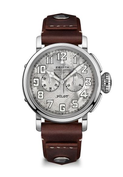 Часы Pilot Silver Chronograph, Zenith