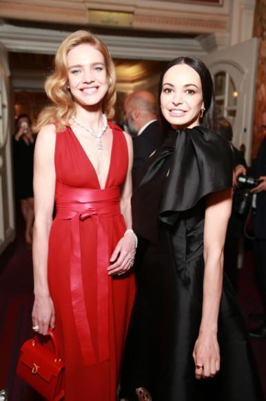 Наталья Водянова и Диана Вишнева, основательница «Фонда содействия развитию балетного искусства Дианы Вишневой»