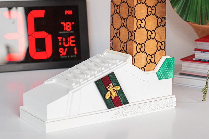 Кроссовки, созданные в приложении Gucci Sneaker Garage