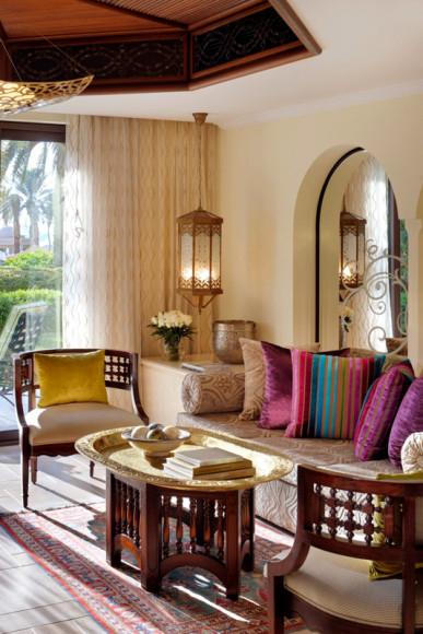 Гостиная в сьюте Junior, отель Residence & SPA, One&Only Royal Mirage (Дубай)